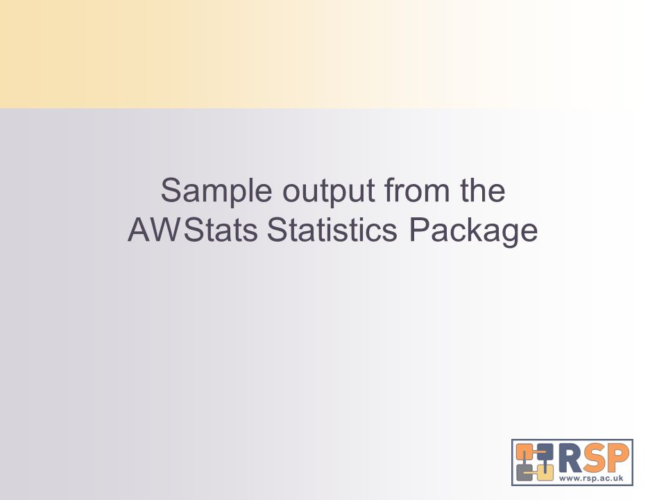 Sample output from the AWStats Statistics Package