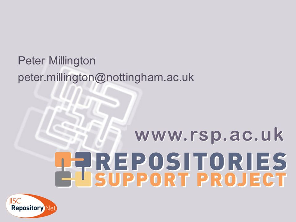 Peter Millington peter.millington@nottingham.ac.uk