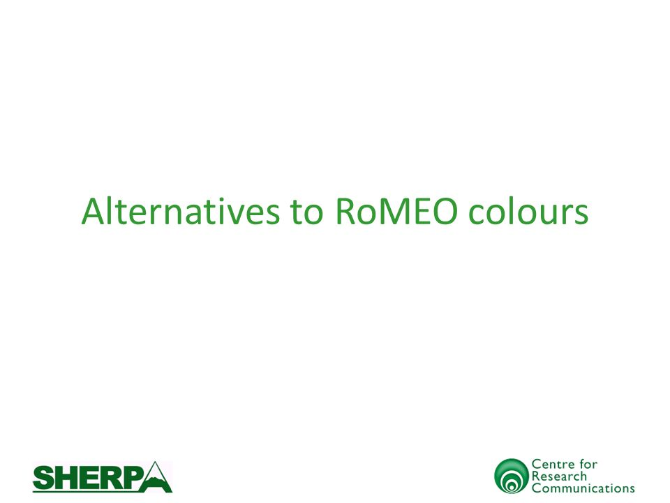 Alternatives to RoMEO colours