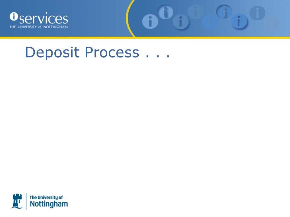 Deposit Process...