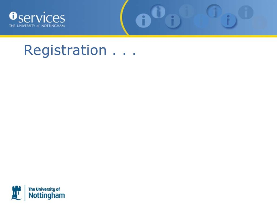 Registration...