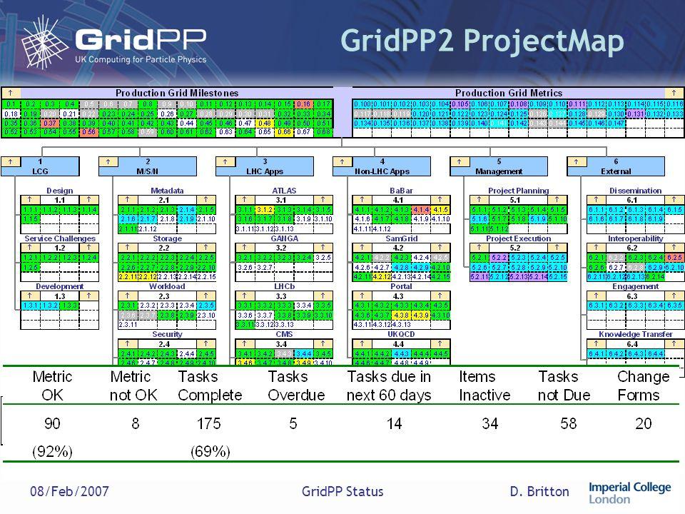 D. Britton08/Feb/2007GridPP Status GridPP2 ProjectMap