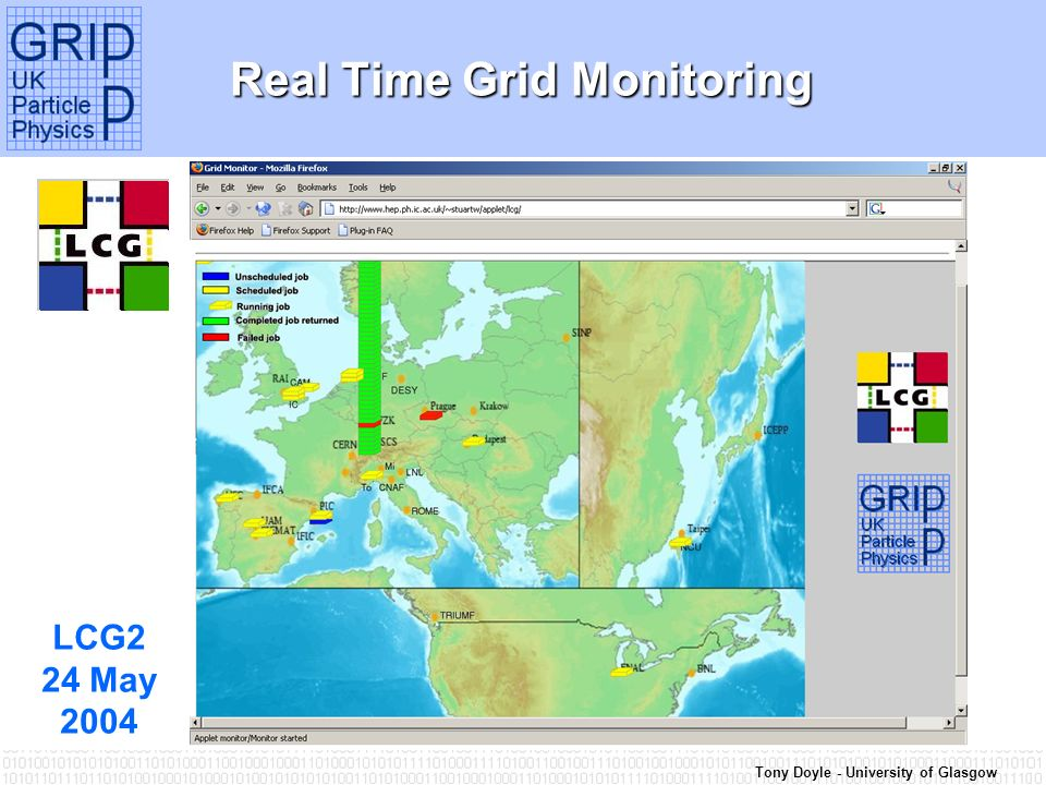 Tony Doyle - University of Glasgow Real Time Grid Monitoring LCG2 24 May 2004