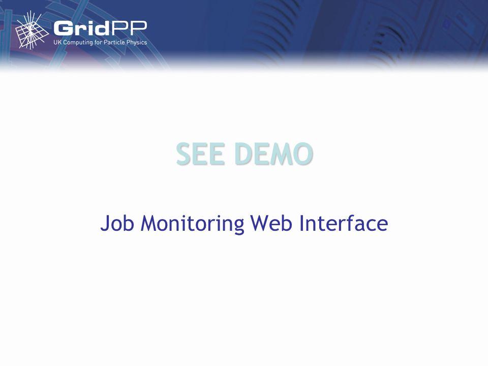 SEE DEMO Job Monitoring Web Interface