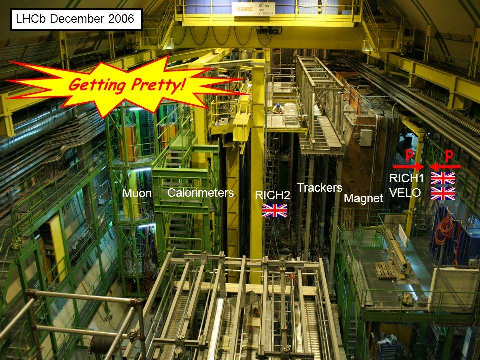5 LHCb December 2006 Muon Calorimeters RICH2 Trackers Magnet RICH1 VELO p p Getting Pretty!