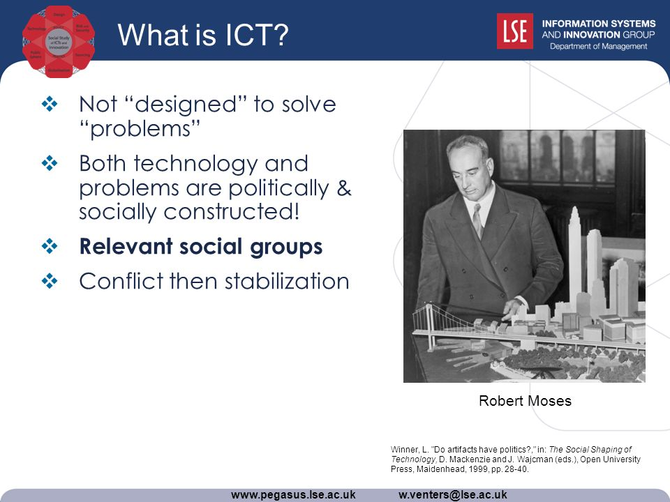 www.pegasus.lse.ac.uk w.venters@lse.ac.uk What is ICT.