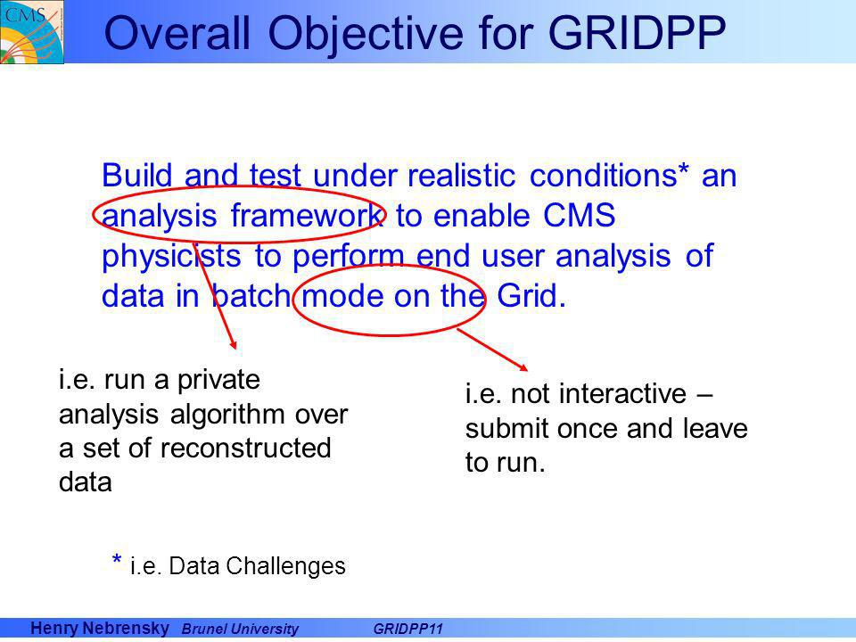 Henry Nebrensky Brunel UniversityGRIDPP11 Approach –Build tactical solution using (as far as possible) tools that already exist.