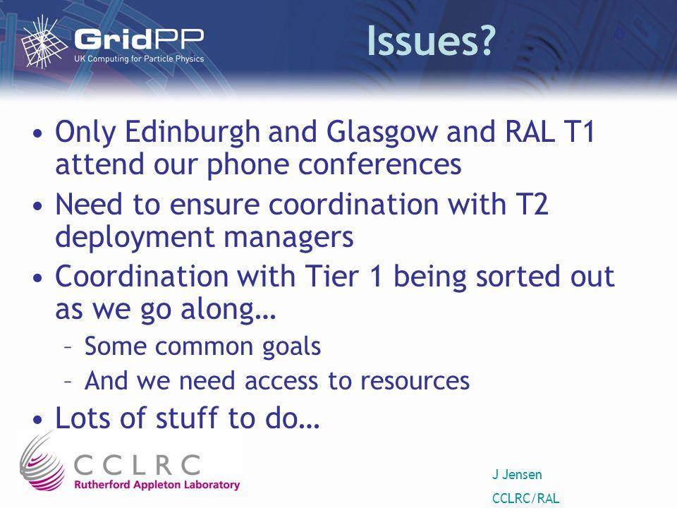 J Jensen CCLRC/RAL Issues.