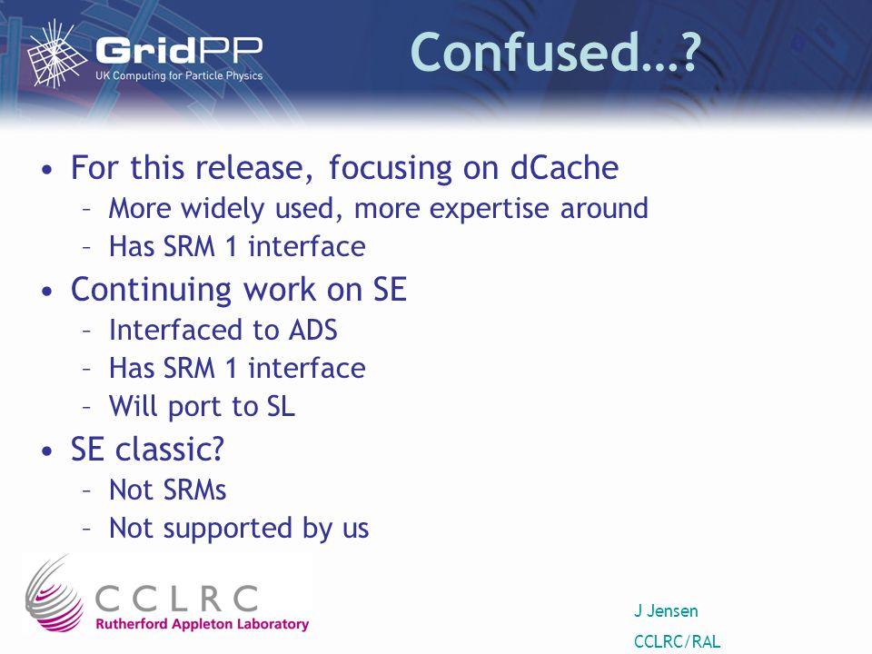 J Jensen CCLRC/RAL Confused….