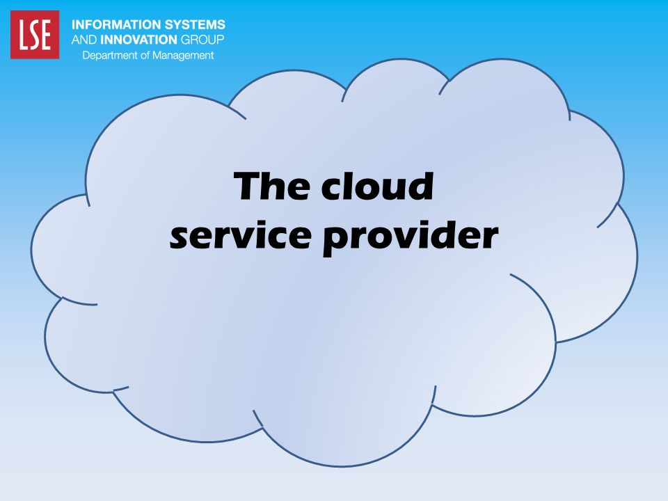The cloud service provider