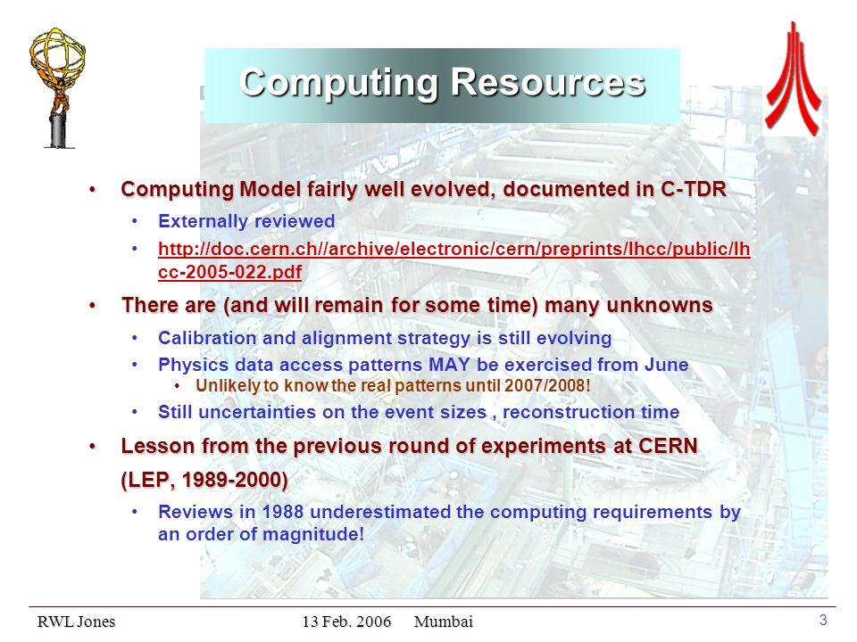 RWL Jones 13 Feb. 2006 Mumbai 14 ATLAS T1 Resources