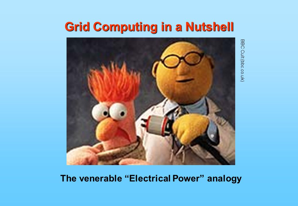 Grid Computing in a Nutshell The venerable Electrical Power analogy BBC Cult (bbc.co.uk)