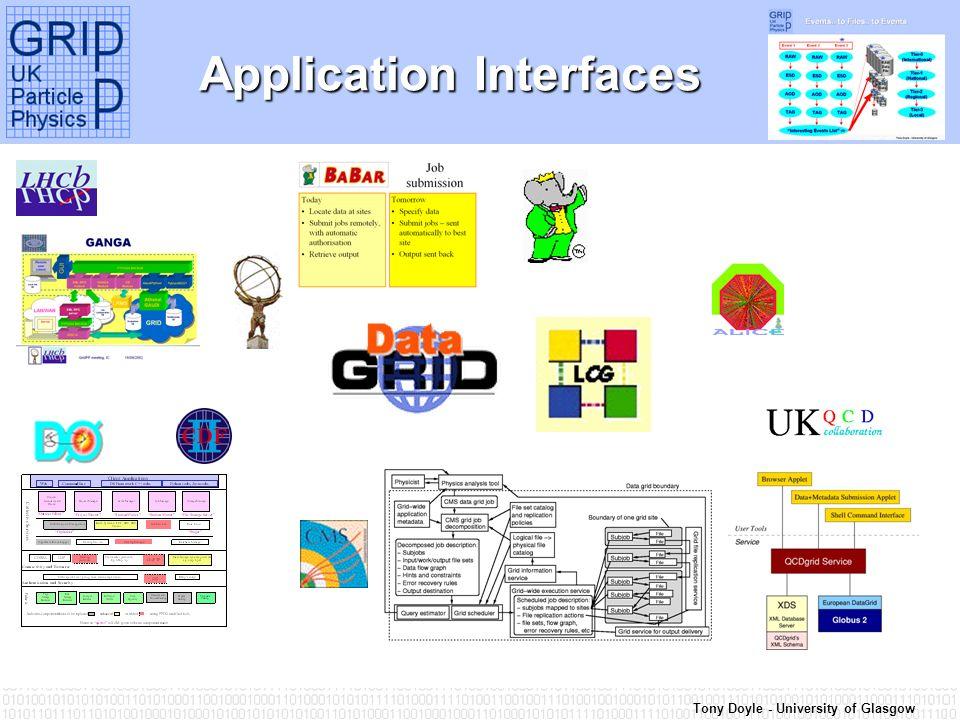 Tony Doyle - University of Glasgow Application Interfaces