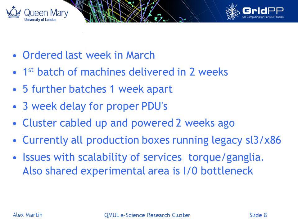 Slide 9 Alex Martin QMUL e-Science Research Cluster