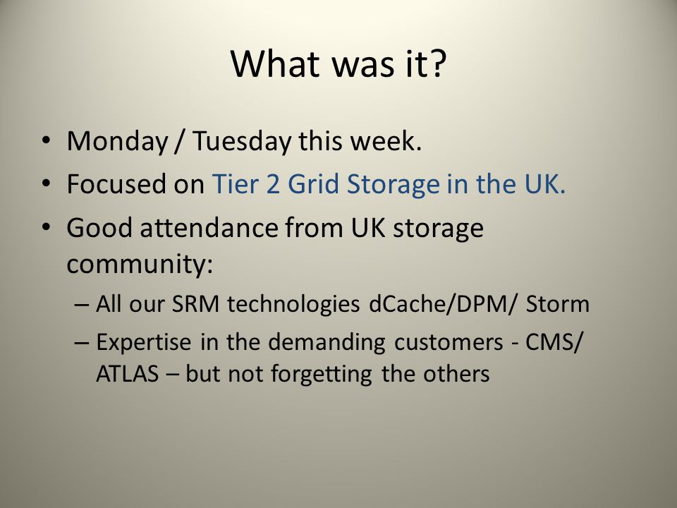 What was it. Monday / Tuesday this week. Focused on Tier 2 Grid Storage in the UK.