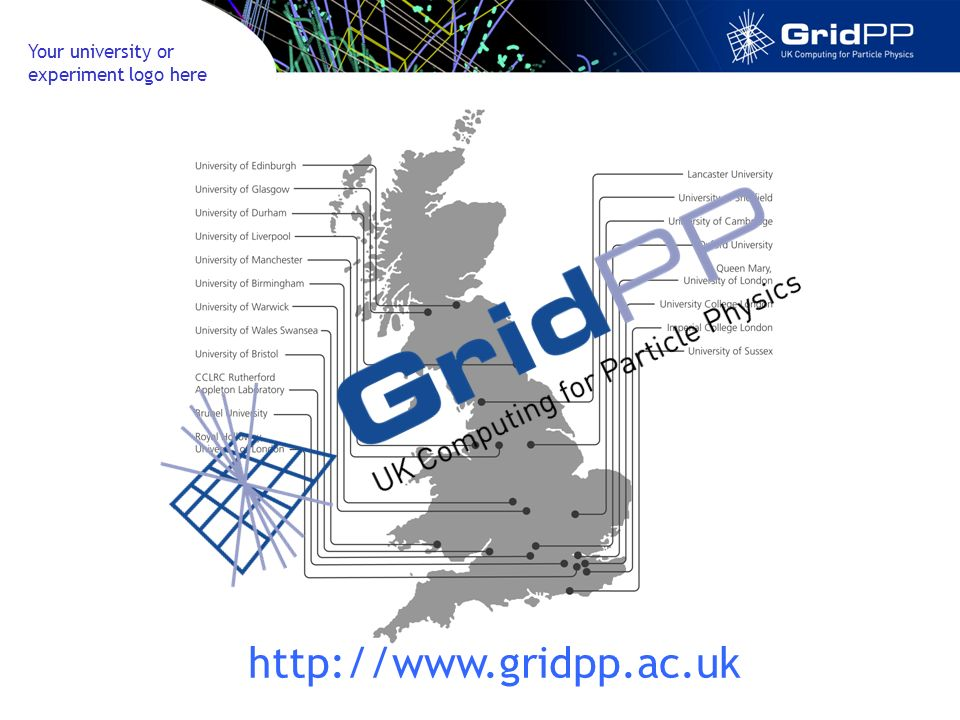 Your university or experiment logo here http://www.gridpp.ac.uk
