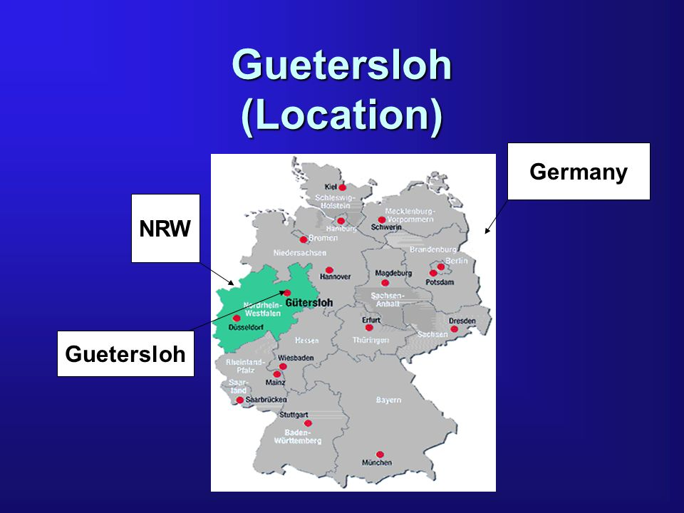 Guetersloh (Location) Germany NRW Guetersloh