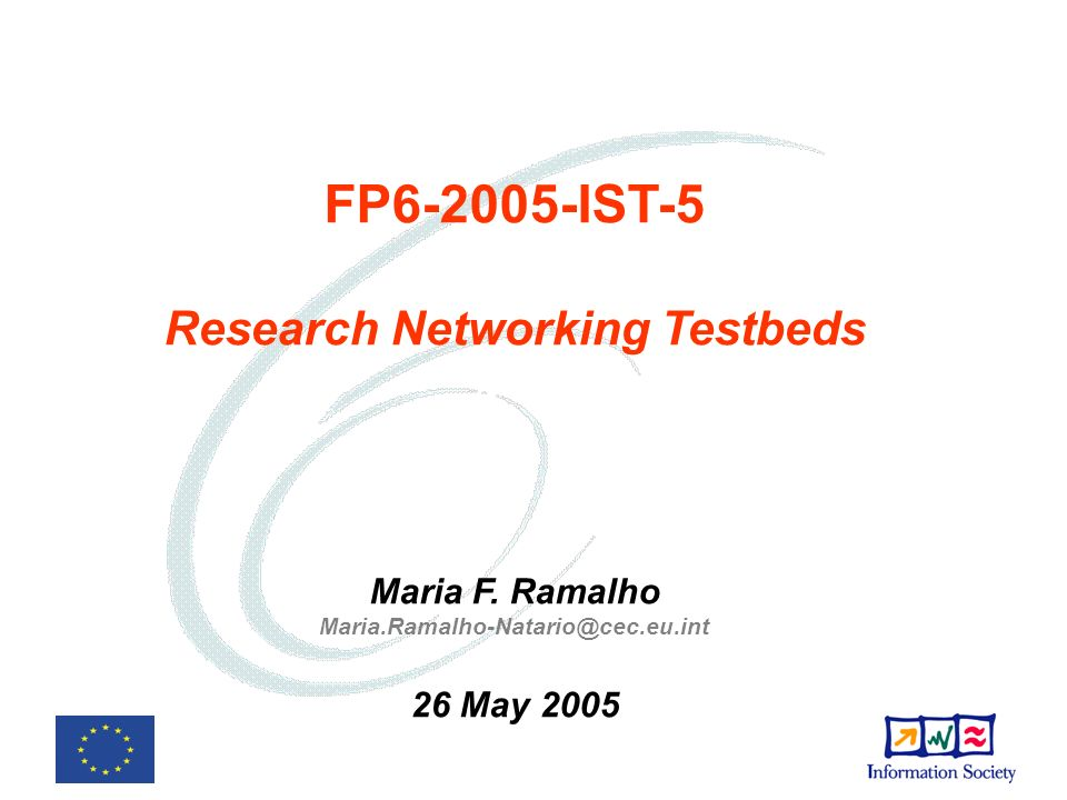 FP6-2005-IST-5 Research Networking Testbeds Maria F.