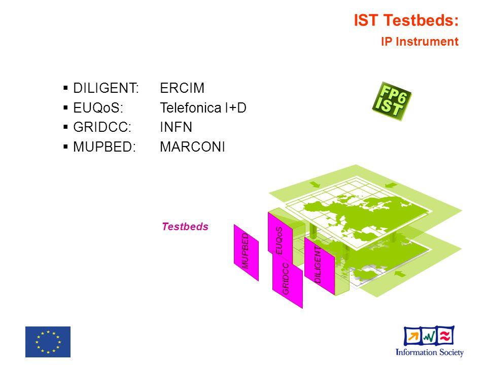 IST Testbeds: SSA Instrument IPV6TF- SC SEEFIRE 6DISS Testbeds: Support Actions IPv6TF-SC:Siemens SEEFIRE:Telefonica I+D 6DISS:Martel