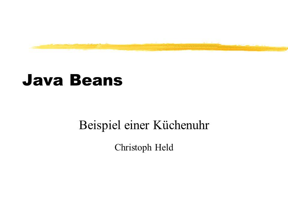 Java Beans Beispiel einer Küchenuhr Christoph Held