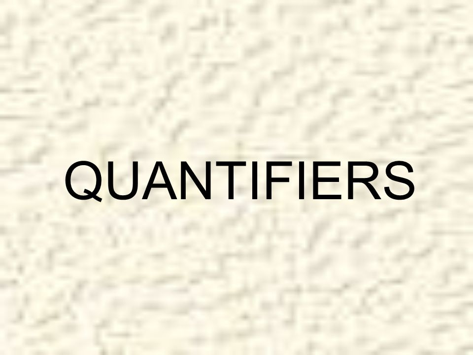 Graded Quantifiers INCREASE (0% to 100%) They are like comparatives and hold a relative position on a scale of increase or decrease.