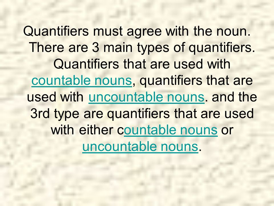 Countable Nouns many I don t have many apples.few* We know few people in the area.