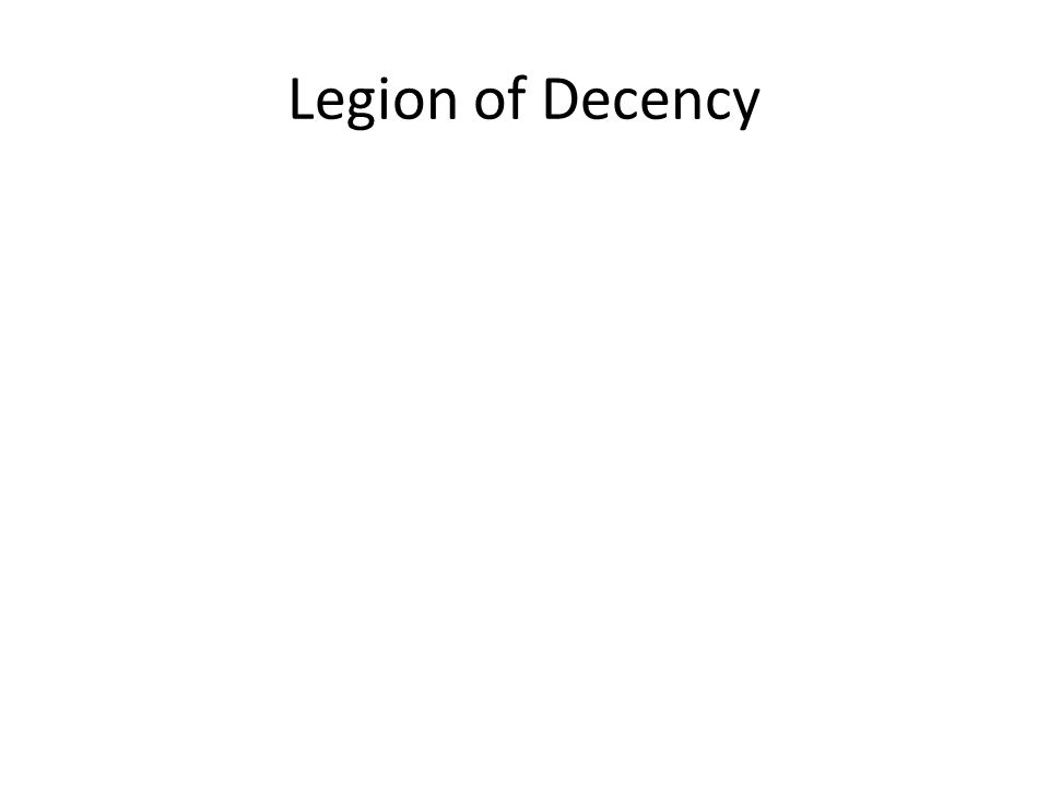 Legion of Decency