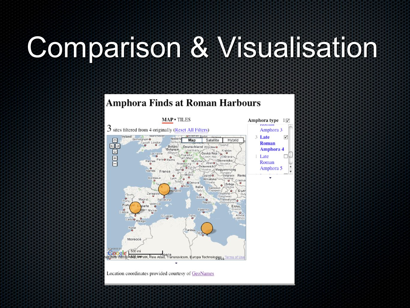 Comparison & Visualisation