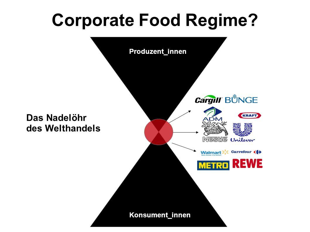 Das Nadelöhr des Welthandels Corporate Food Regime? Konsument Produzent_innen Konsument_innen