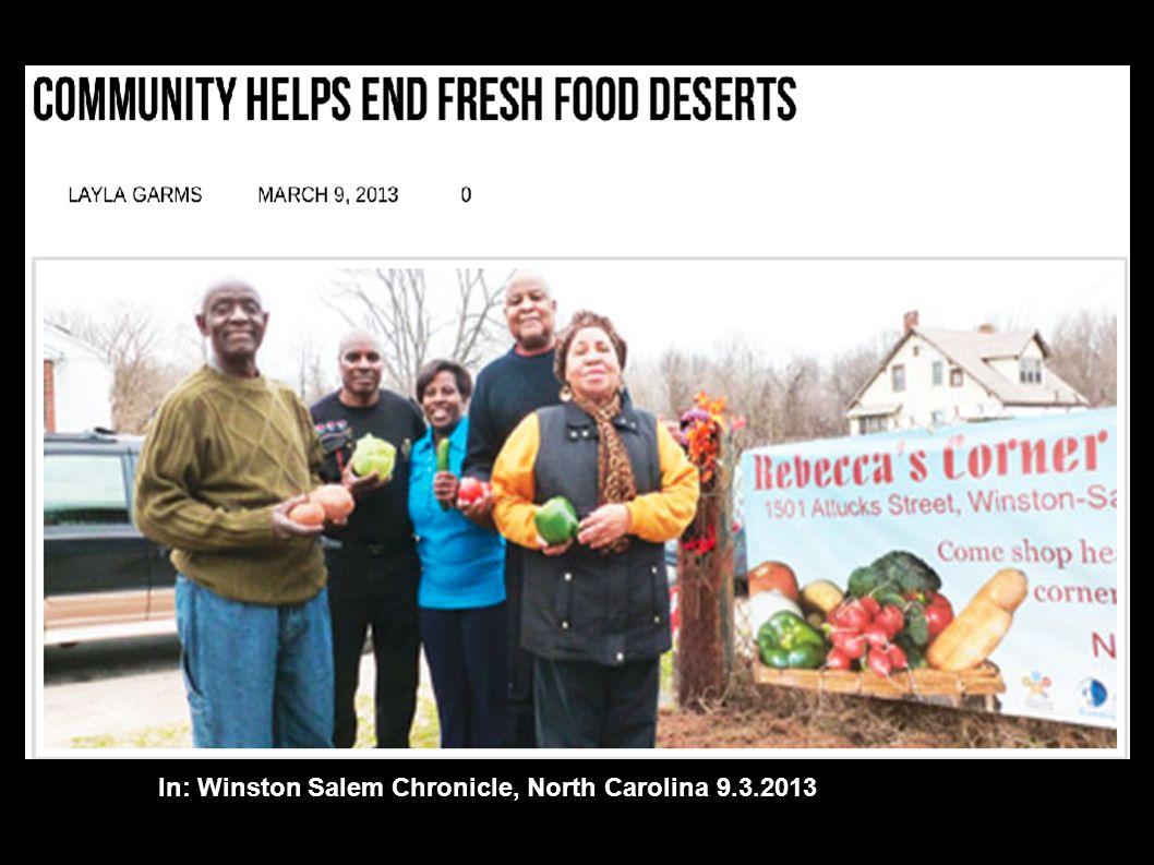 In: Winston Salem Chronicle, North Carolina 9.3.2013