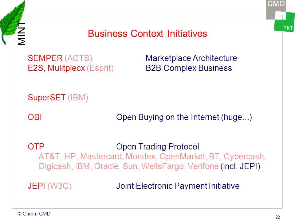 © Grimm GMD 21 Electronic Payment Methods Smartcard-based Mondex, GeldKarte,...