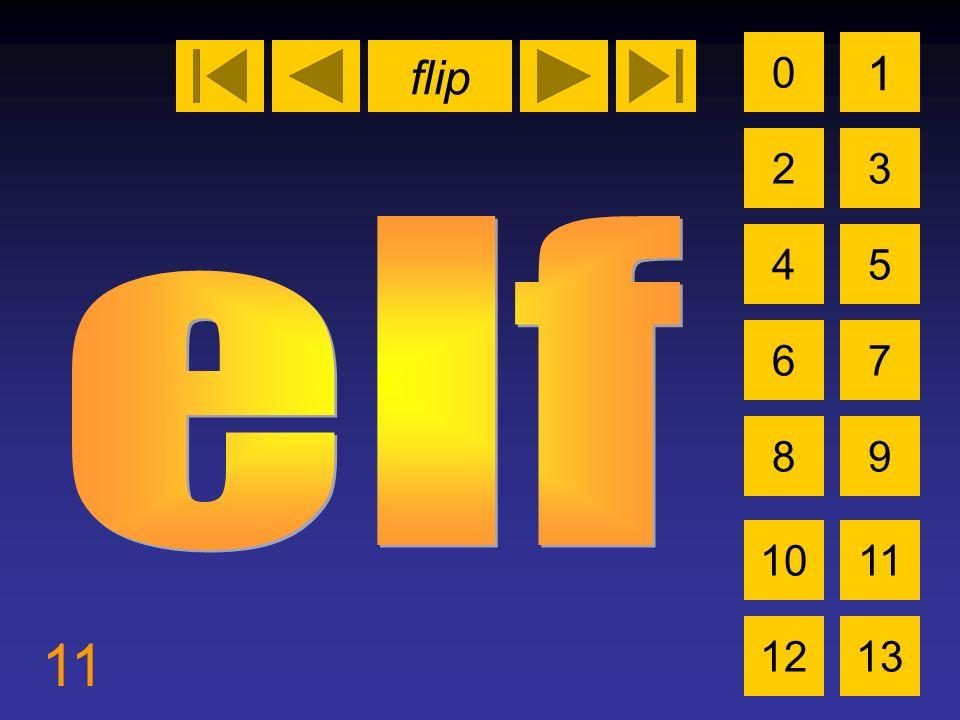 flip 11 0 2 1 3 4 6 5 7 89 1011 1213