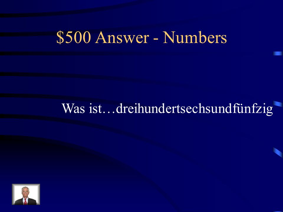 $500 Question - Numbers # of days in the year