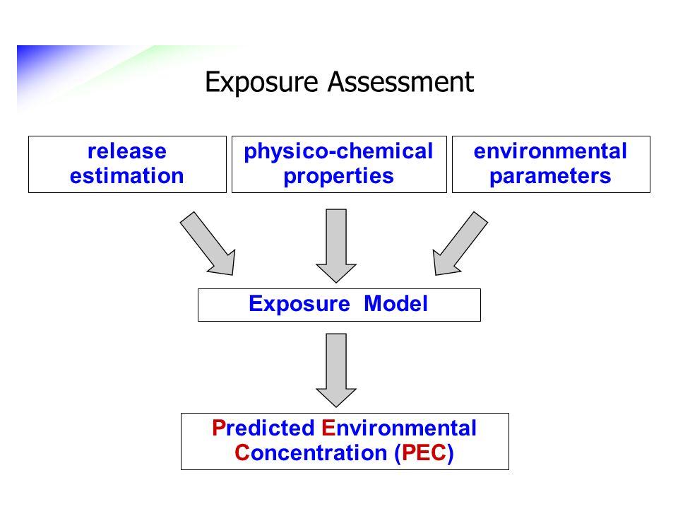 Exposure Assessment release estimation physico-chemical properties environmental parameters Exposure Model Predicted Environmental Concentration (PEC)