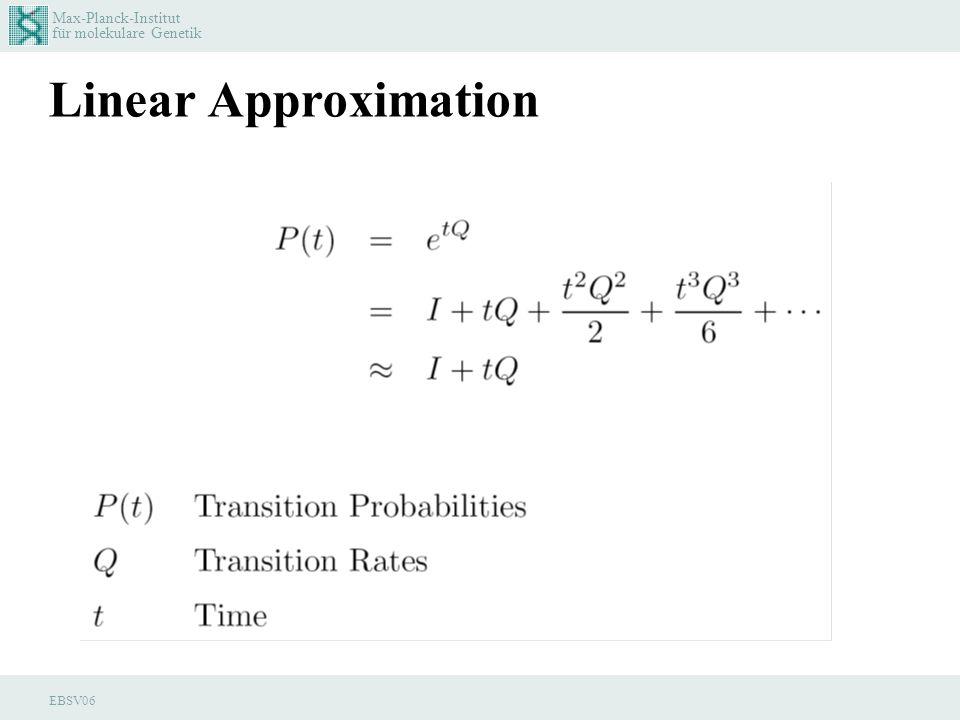 Max-Planck-Institut für molekulare Genetik EBSV06 Linear Approximation
