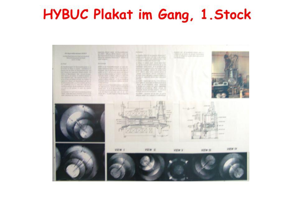 HYBUC Plakat im Gang, 1.Stock