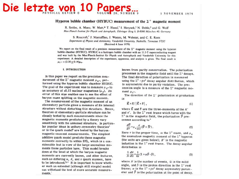 Die letzte von 10 Papers…