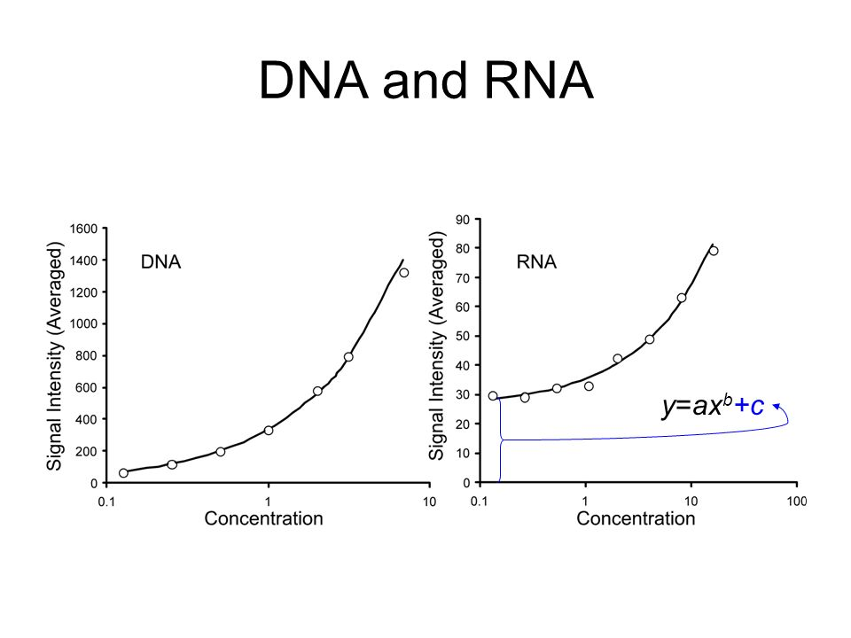 DNA and RNA y=ax b +c