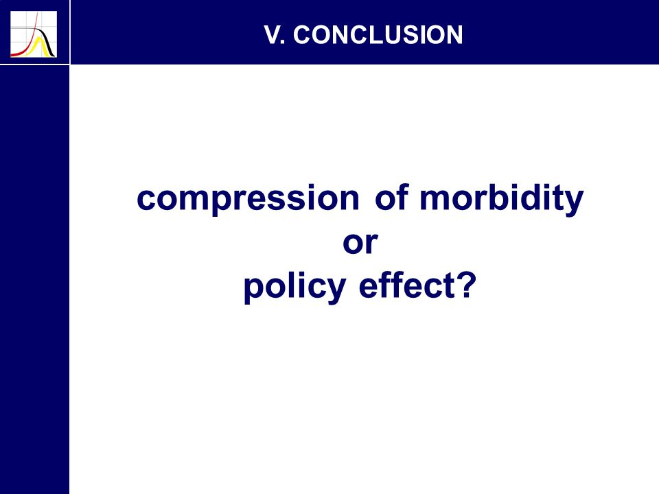 V. CONCLUSION compression of morbidity or policy effect