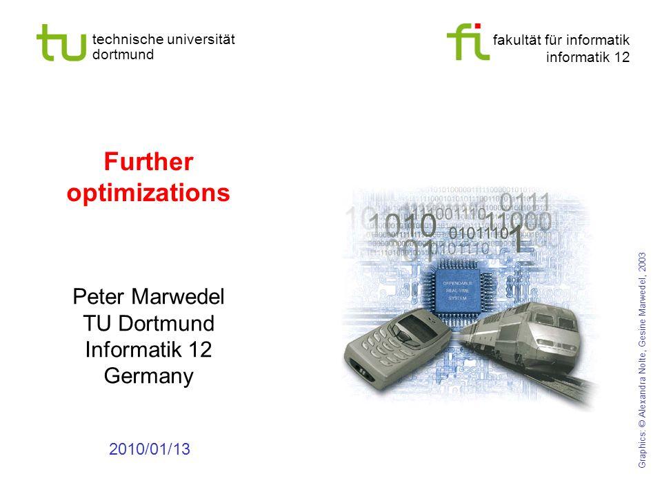 - 19 - technische universität dortmund fakultät für informatik p. marwedel, informatik 12, 2011 Liaos algorithm on a more complex graph a b c d e f a