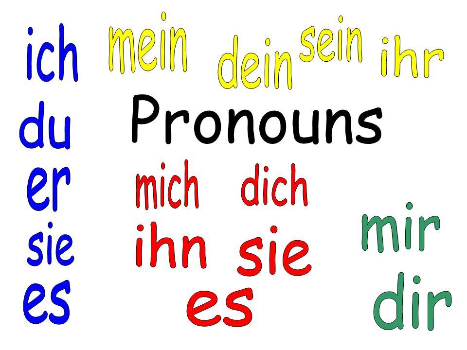 _____ Mutter ist nicht da. English Translation: