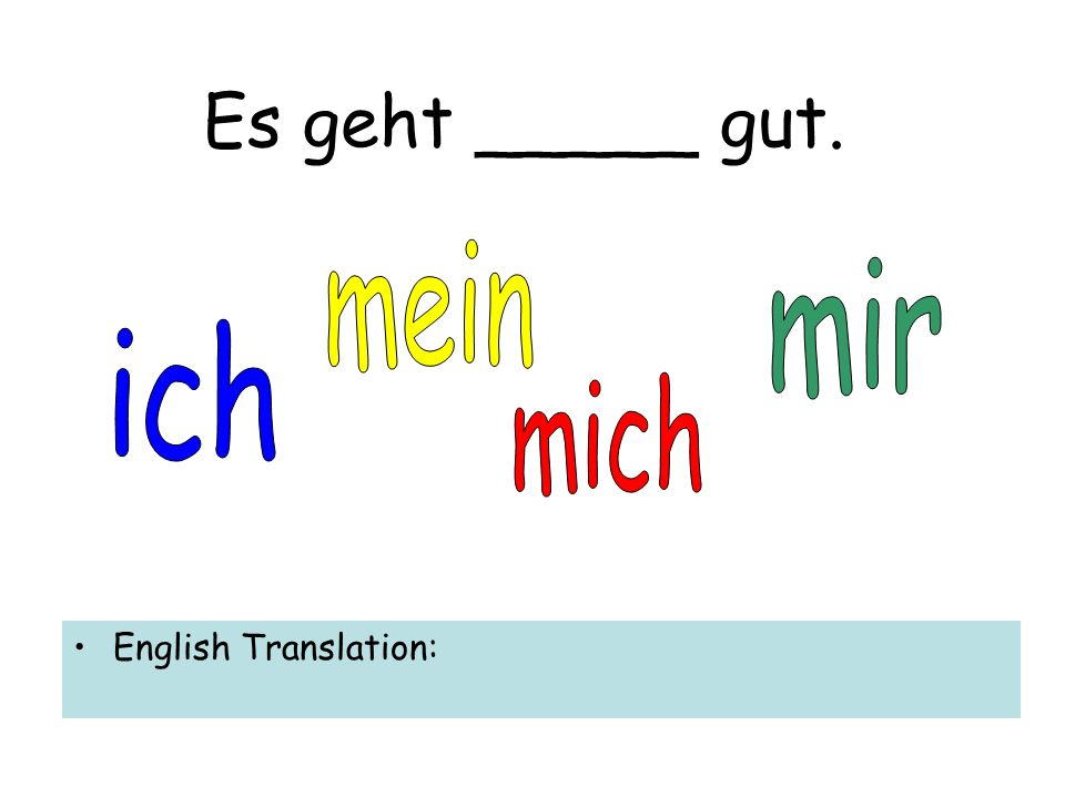 Wie geht es _____? English Translation: