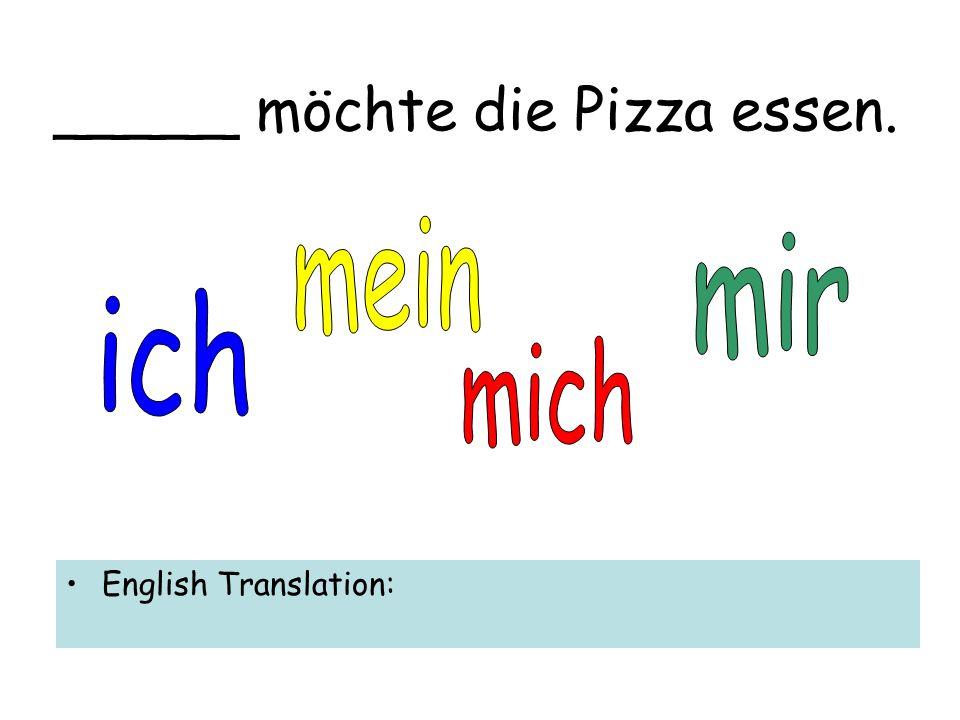 Ich kann _____ die Butter geben. English Translation: