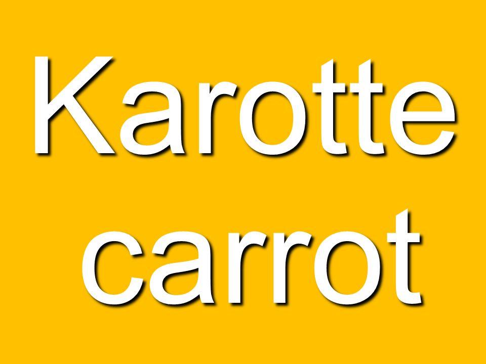 Karotte carrot