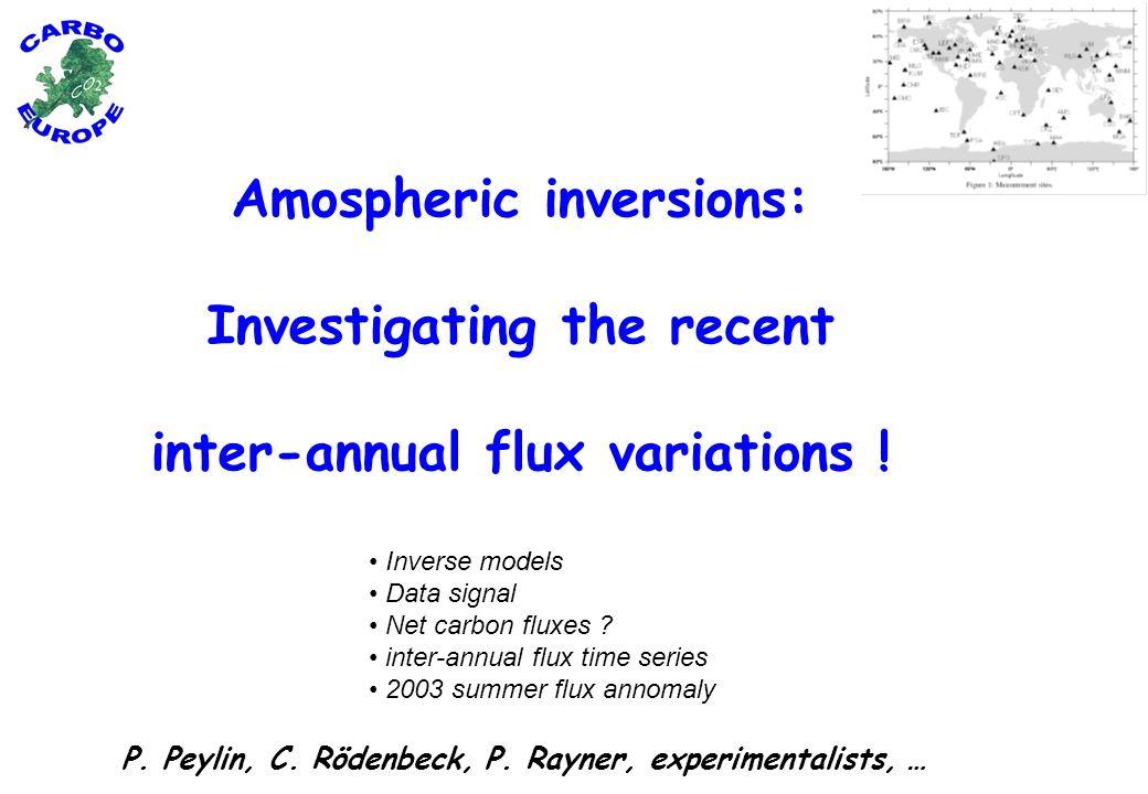 European scale: « flux anomalies » Pixgro Mod17 ANN ORCHIDEE LPJ JULES BIOME-BGC bottum-up range De-seasonnalised + zero mean + filtering high freq.