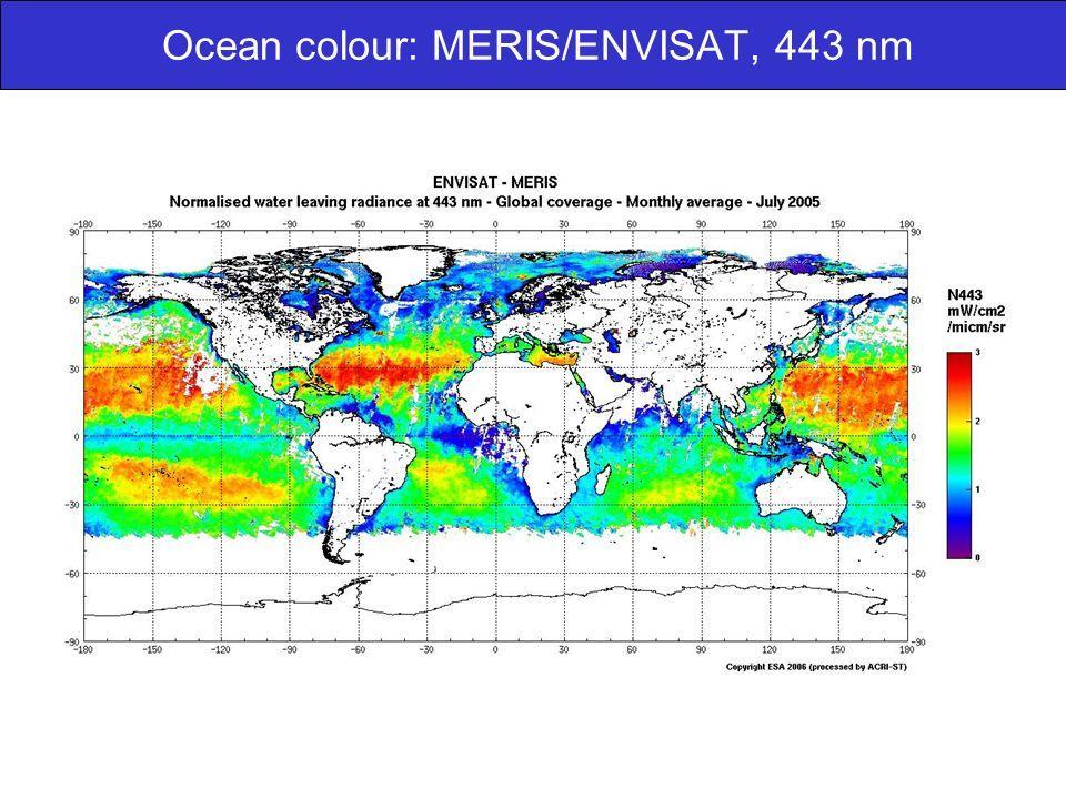 Ocean colour: MERIS/ENVISAT, 443 nm
