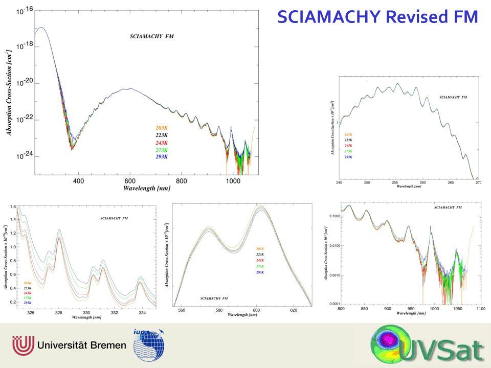 Physik Fachbereich 1 Institut für Umweltphysik SCIAMACHY Revised FM