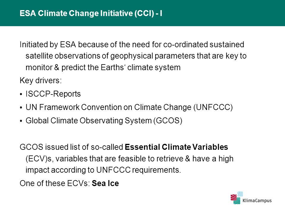 Titelmasterformat durch Klicken bearbeiten 11.02.2014 Outline ESA Climate Change Initiative (CCI) ESA CCI Sea Ice ESA CCI Sea Ice and SMOS Sea Ice Thickness