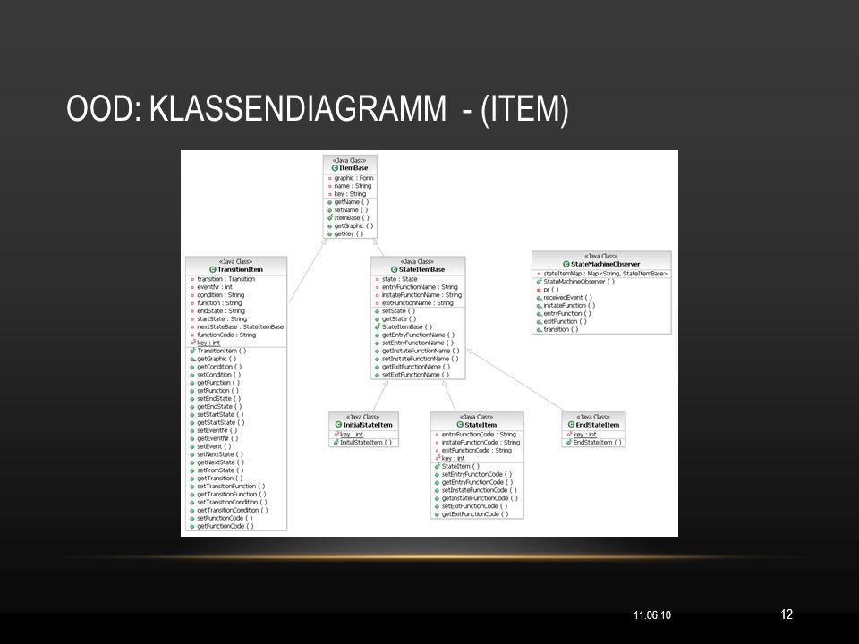 OOD: KLASSENDIAGRAMM - (ITEM) 11.06.10 12