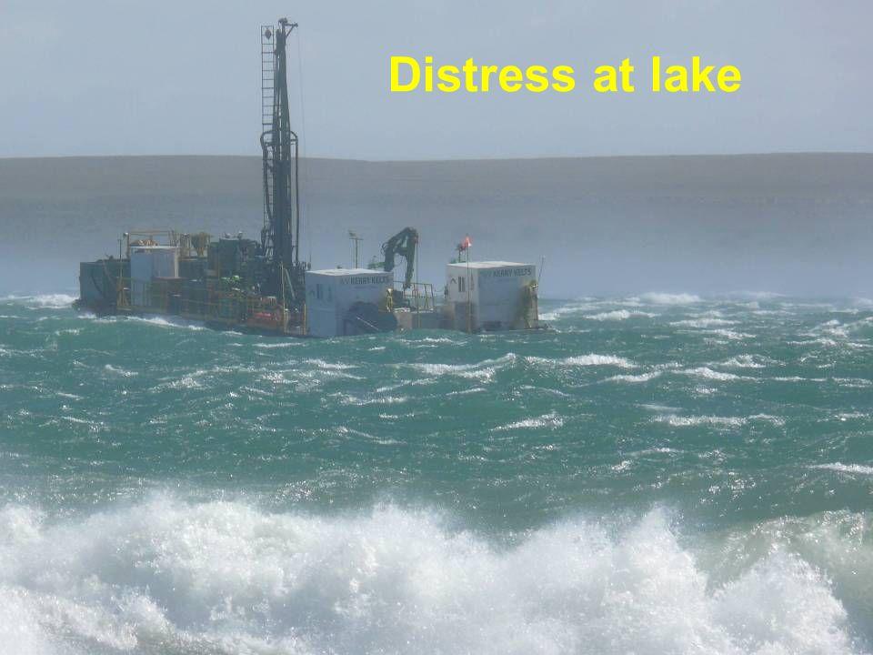 Distress at lake